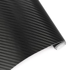 30cmx127cm 3D Carbon Fiber Vinyl Car Wrap Sheet Roll Film Car stickers and Decals Car Styling black 30*127CM