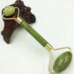 Jade Push Massageador Face Lift Tools Face Massager Skin Care Natural Jade Roller Double Head Facial GREEN