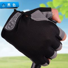 Half Finger Gloves for Men Women Gym Fitness Weight Lifting Building Workout Running Exercise Black XL