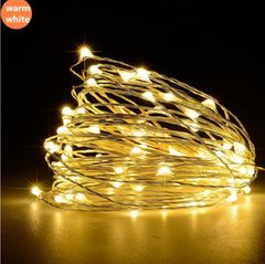 Led Lighting Copper Wire Battery Christmas Wedding Party LED String Fairy Lights decorative light Warm white battery 5m 3W