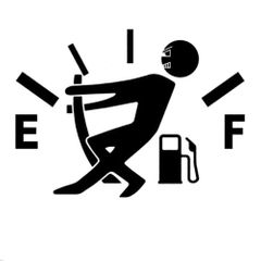 Funny Car Stickers High Gas Consumption Decal Fuel Gage Stickers Car Stickers Car Styling Black