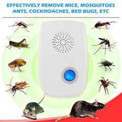 Pest Control Ultrasonic Pest Repeller Mosquito Killer Electronic Anti Rodent Insect Repellent UK