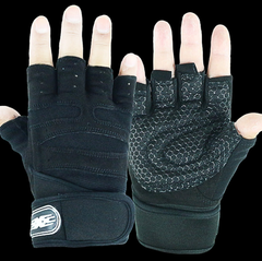 Gym Gloves Sports Exercise Weight Lifting Gloves Body Building Training Sport Fitness Gloves Black L