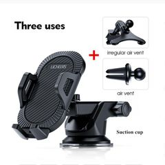 Sucker Car Phone Holder Mobile Phone Holder Stand in Car No Magnetic GPS Mount Support Black 3 in 1 chuck