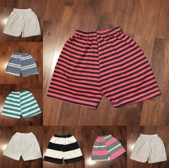0-3 Years old Baby Cotton stripe short pant (Random Color) Random Colors-Baby Boys 90 cm