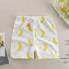 Kids Children Cotton Short Pant 80-120 cm Yellow 80 cm
