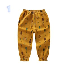 2019 New Cotton and linen Anti-mosquito short pants for kids boy and girls 1 80 cm