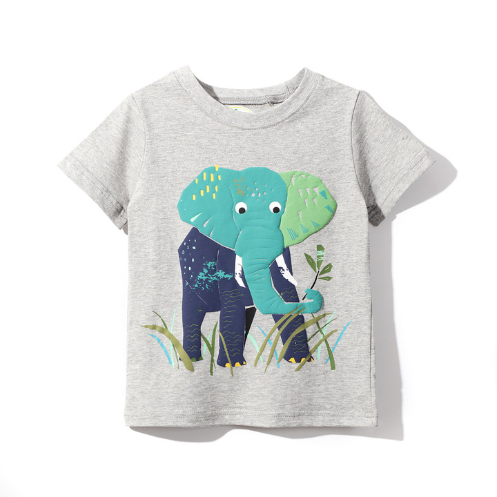 2019 New Cotton Summer Boys&Girls Short Sleeve Top Tee Shirt 1 110 cm cotton