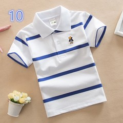 Kids boys and girls short sleeve cotton tee shirt polo shirt 10 120 cm cotton