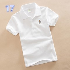 Cotton short sleeve colorful polo tee shirt for kids 17 110 cm cotton