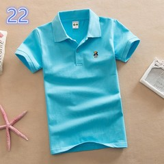 Cotton short sleeve colorful polo tee shirt for kids 22 90 cm cotton