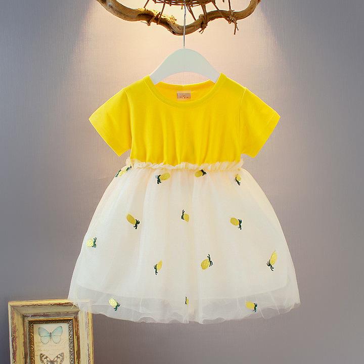 Baby Girl Summer Cotton Pineapple lovely Fashion Dress 1 120 cm