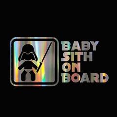 Baby on Board Laser Car Reflective Decor Sticker 18 X 9 Cm (7