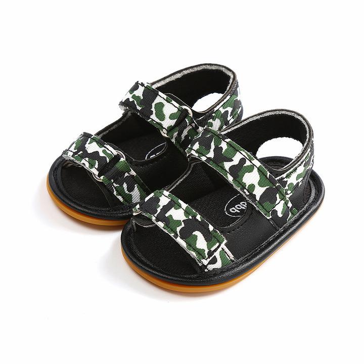 Baby Kids camouflage soft bottom learning walking HOOK & LOOP Sandals 1 10 cm