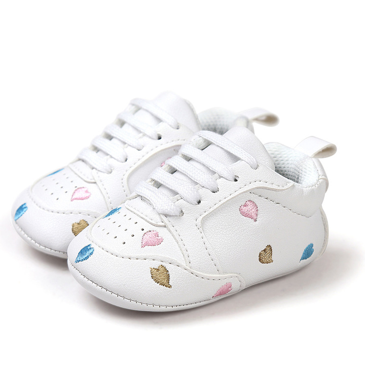 0-1 Years old baby learn walking lovely heart shoes 1 13 cm (9-12 month)