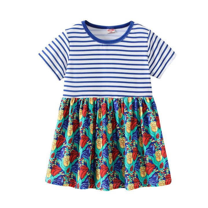 Baby Girl Lovely Cartoon printing Casual Princess dress 18 130 cm