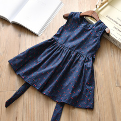 Summer Girl Flower bandages princess beach dress 1 90 cm