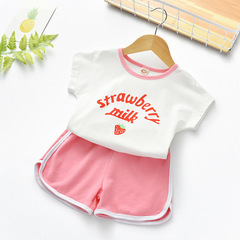 Summer Baby kids Fashion sports  printing top and short pants 1 90 cm