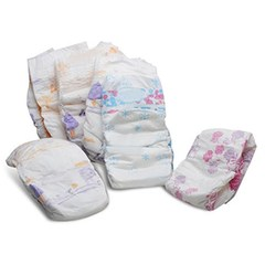 Baby Dry and breathable diapers S-XL Size 5 pcs S