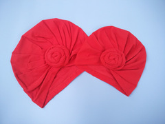Baby Kids Cotton tie a knot sleeve cap 8 colors 1 Adult Size -24x18cm