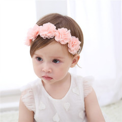New design Baby Kids Flower hair-band for decor two color 1 head size 38 - 50 cm