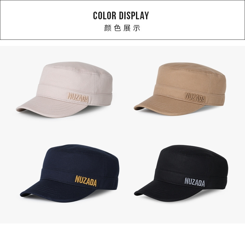 51aaa3d51ca NUZADA new solid color military hat men outdoor sun hat duck tongue flat cap  black  Product No  10532959. Item specifics  Brand