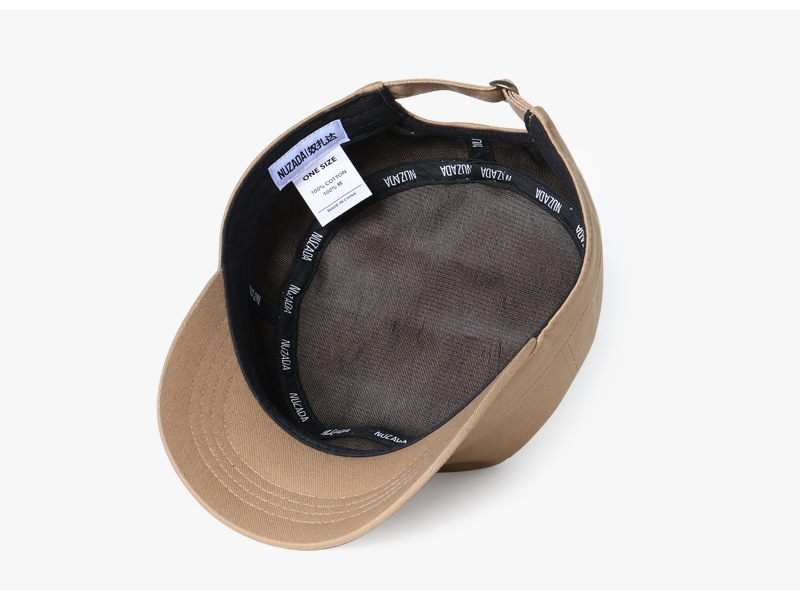 bae787f2513 NUZADA new solid color military hat men outdoor sun hat duck tongue ...