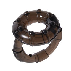 Elastic Cock Ring Prolonged Intercourse Sex Toy for Men As Picture As Picture