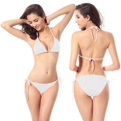 Women's Tie Side Bikini Swimsuits Triangle Bikinis Set Removable Pads Swimming Suit RS5159