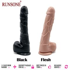 Big Realistic Silicone Dildo Monster Cock and Balls Dong Sex Toy for Women Sex Toy for Adults Flesh Large Size