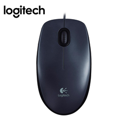 Logitech M90 1000DPI Wired USB Optical Mouse black normal