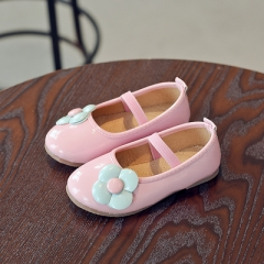 Casual Girls Shoes Fashion Princess Slip-on Flower Children Sneaker Leather Shoes For Girls Shoe pink 21