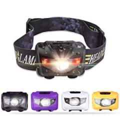 LED Headlamp Flashlight,  Camping, Running, Batteries Included, black one size