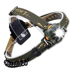 LED Headlamp, Waterproof Sensor Headlamp Flashlight for Reading gray one size