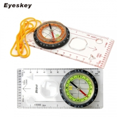 Eyeskey Outdoor Camping Cross-country Race Hiking Special Compass, Baseplate Ruler Map Scale Compass green one size