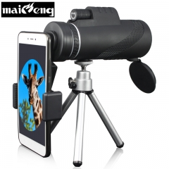 40X60 Monocular Portable Telescope,Binoculars FOR Smartphone,holder Tripod for Camping Night Hunting spring clamp triopod