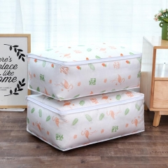 Flamingo Shape Quilt Storage Bag Home Clothes Quilt Pillow Blanket Storage Bag feather wings/black