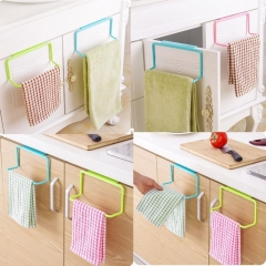 Beautiful And Convenient Towel Rack Hanging Holder Organizer Bathroom Kitchen Cabinet Cupboard blue 19*9*5.5