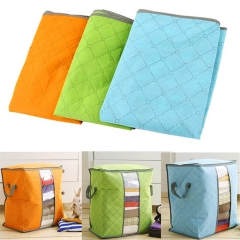 Portable Storage Box Folding Storage Bag Organizer Clothing Pouch Holder Organizador Blanket Storage orange