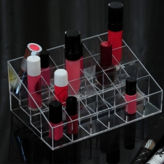 24 Grid Acrylic Makeup Organizer Storage Box Cosmetic Box Lipstick Jewelry Box Case Holder transparent