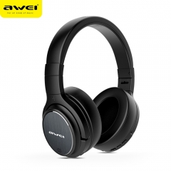 AWEI A950BL Bluetooth Headphone Noise Cancelling Wireless Earphone Cordless Headset black