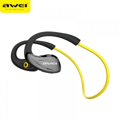 Awei A880BL Bluetooth Earphones Wireless Headphones with Microphone For Phone Bluetoot V4.1 yellow