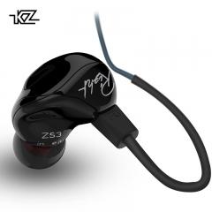 KZ ZS3 Ergonomic Detachable Cable Earphone In Ear Audio Monitors Noise Isolating HiFi Music black