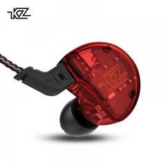 KZ ZS10 Headphones 10 Driver In Earphone 4BA+1DD Dynamic Armature Earbuds HiFi Bass red