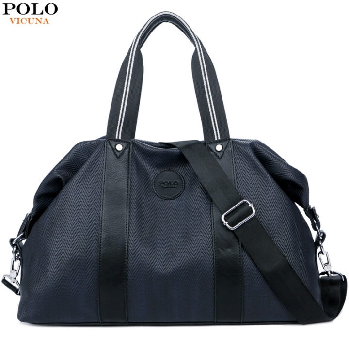 VICUNA POLO New Oxford Large Capacity Travel Bag Casual Man Handbag Multifunction Business Luggage black large