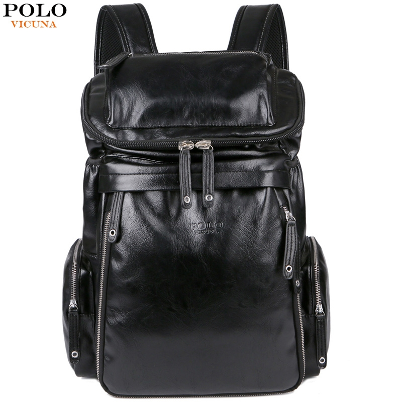 2f0ce86a05ea VICUNA POLO New Arrival Leather Men School Book Bag Casual Travel Day Backpack  Bag Large Capacity black large  Product No  2670198. Item specifics  Seller  ...