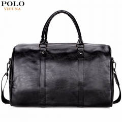 VICUNA POLO Casual Business Men Travel Bags Large Capacity Rolling Travel Handbag Black black large