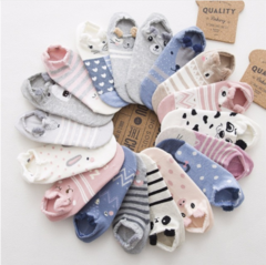 SP&CITY Cute Animal Cotton Socks Female Kawaii Cat With Dog Summer Short Socks Slippers Women Casual random one size