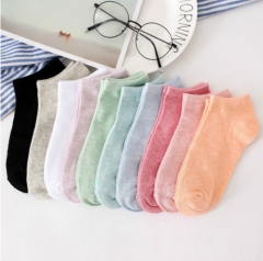 10pairs/lot Candy Colors Basic Section Women Casual Softable Cute Boat Socks Short Ankle Socks random one size