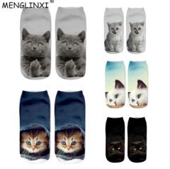 2018 New HOT 3D Printing Women Socks Brand Sock Fashion Unisex Christmas Socks random one size